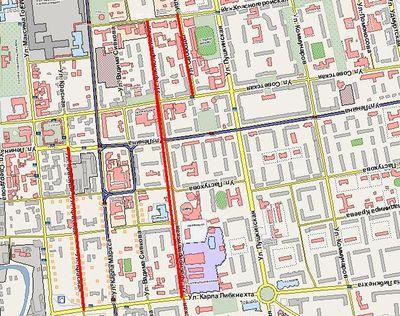 Улицы Красная, Красноармейская