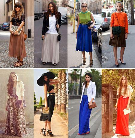 Модные Длинные Юбки Бежевого Цветта